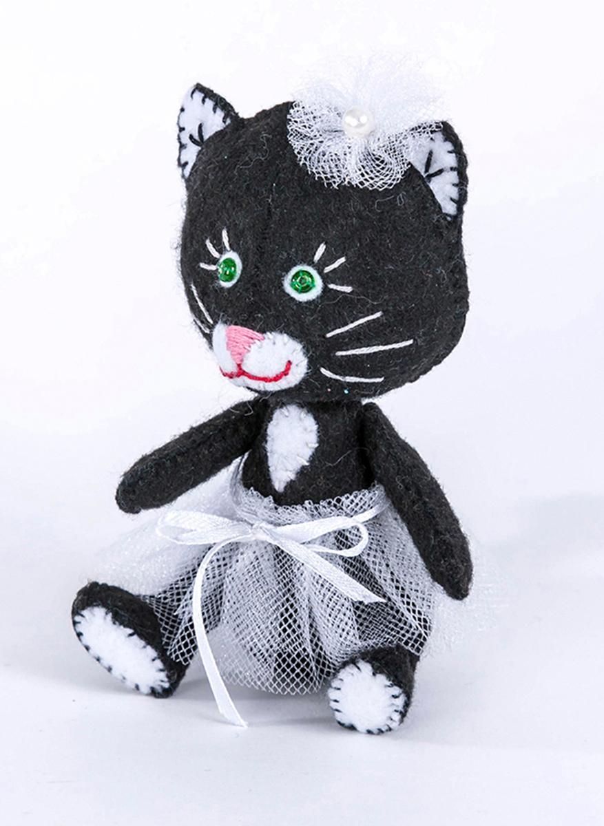 """Набор для изготовления текстильной игрушки Перловка """"Киска"""", высота 11,5 см"""
