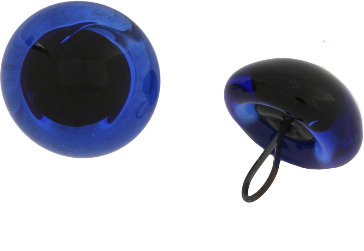 Глазки декоративные Glorex, пришивные, на ножке, цвет: голубой, 8 мм, 2 шт бусины зажимные glorex цвет серебряный 1 8 мм 100 шт 685320