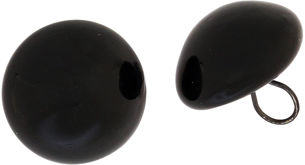 Глазки декоративные Glorex, пришивные, на ножке, цвет: черный, 14 мм, 2 шт глазки декоративные рукоделие круглые пришивные цвет черный белый 52 шт