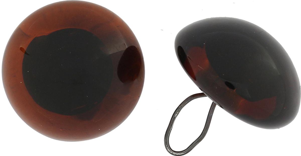 Глазки декоративные Glorex, пришивные, на ножке, цвет: коричневый, 14 мм, 2 шт бусины зажимные glorex цвет серебряный 1 8 мм 100 шт 685320