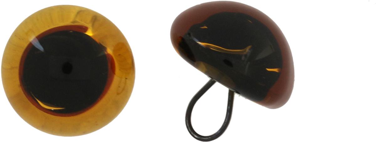 Глазки декоративные Glorex, пришивные, на ножке, цвет: янтарный, 14 мм, 2 шт бусины зажимные glorex цвет серебряный 1 8 мм 100 шт 685320