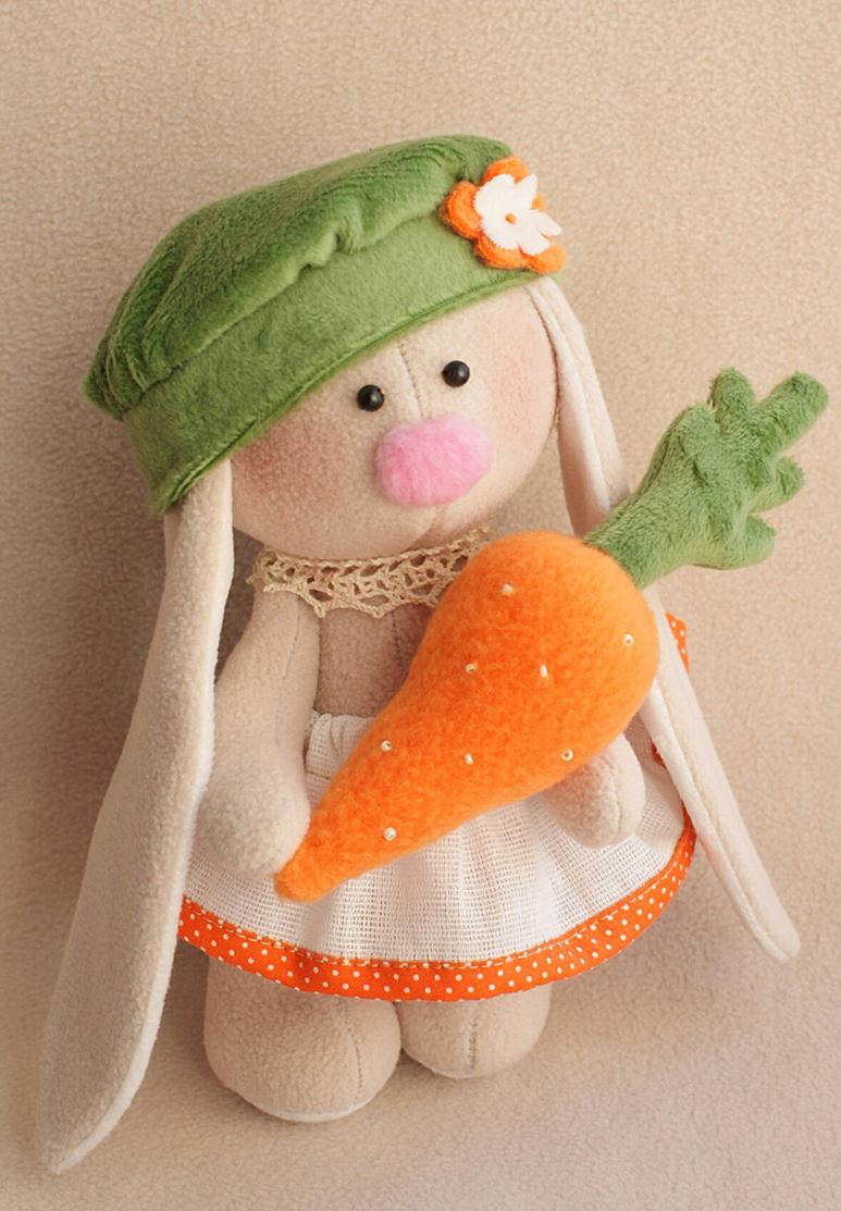 """Набор для изготовления текстильной игрушки Ваниль """"Зайка Морковка"""", высота 20 см"""