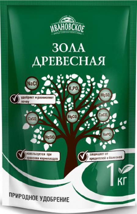 Зола древесная Фермерское хозяйство Ивановское, 1 кг удобрение фермерское хозяйство ивановское для рассады 50г коричневый