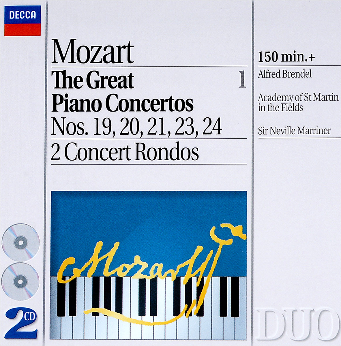 Альфред Брендель Alfred Brendel. Mozart: The Great Piano Concertos, Vol.1 (2 CD) mozart mozart piano concertos 10 27
