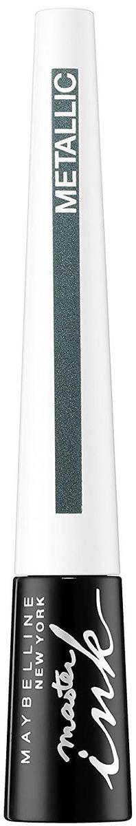 Maybelline New York Жидкая подводка для глаз Master Ink Metallic, оттенок 33, Glimmer Gree, 9 г maybelline master holographic