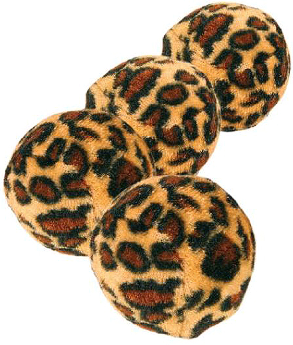 Набор мячей Trixie Леопард, диаметр 3,5 см, 4 шт набор мячей детских 1 toy смайлик