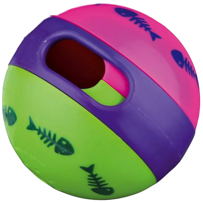 Игрушка для кошек Trixie Мяч для лакомства, диаметр 6 см фишер fisher price игрушки животных познание детские игрушки мяч мяч мяч детские погремушки f0807