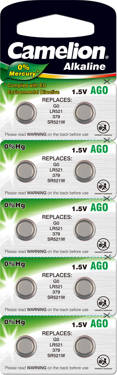 Батарейка Camelion G 0 BL-10 Mercury Free батарейка camelion lr43 g12 bl 10 ag12 bp10 1 штука