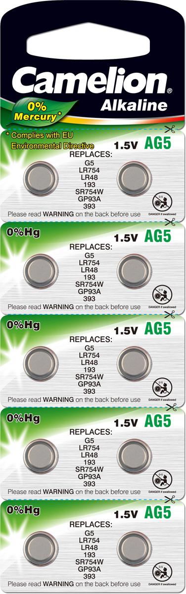 Батарейка Camelion G 5 BL-10 Mercury Free батарейка camelion lr43 g12 bl 10 ag12 bp10 1 штука
