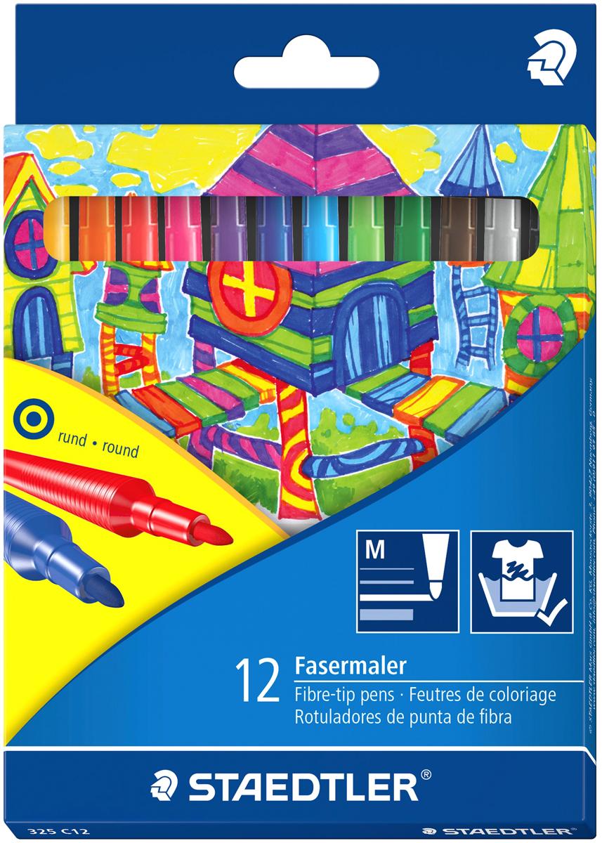 Staedtler Набор фломастеров Noris Club 12 цветов staedtler карандаш акварельный karataquarell набор 36 цветов
