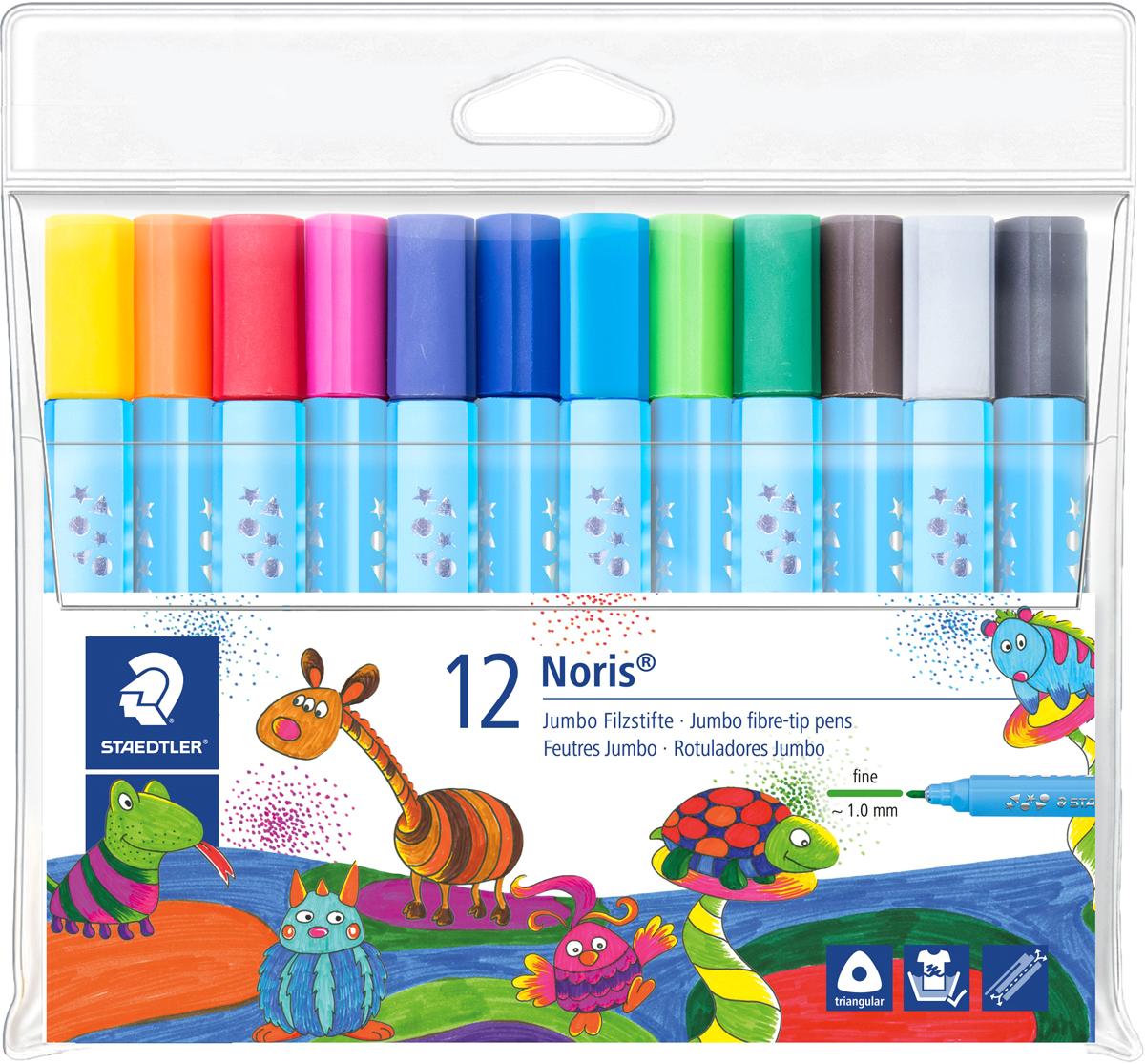 Staedtler Набор фломастеров 12 цветов staedtler карандаш акварельный karataquarell набор 36 цветов