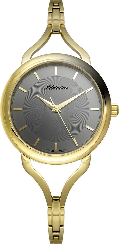 лучшая цена Наручные часы женские Adriatica, цвет: черный. 3796.1117Q