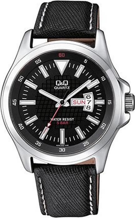 Наручные часы мужские Q & Q, цвет: черный. A200-302 цена и фото
