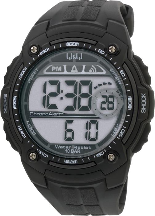 Наручные часы мужские Q & Q, цвет: черный. M075-001 q and q q868 001