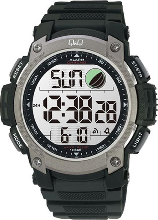 Часы наручные мужские Q & Q, цвет: черный. M119-002 мужские часы q and q vq66 002