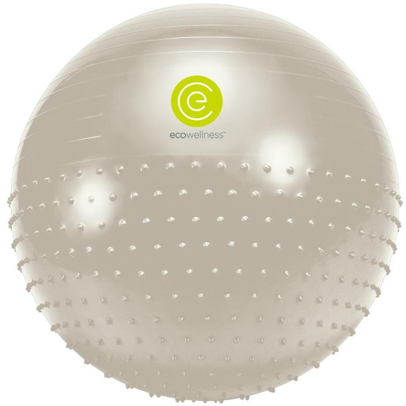 Мяч гимнастический Ecowellness, цвет: серый, зеленый, диаметр 65 см мяч гимнастический togu myball soft 65 cм красный мяч гимнастический togu myball soft 65 cм