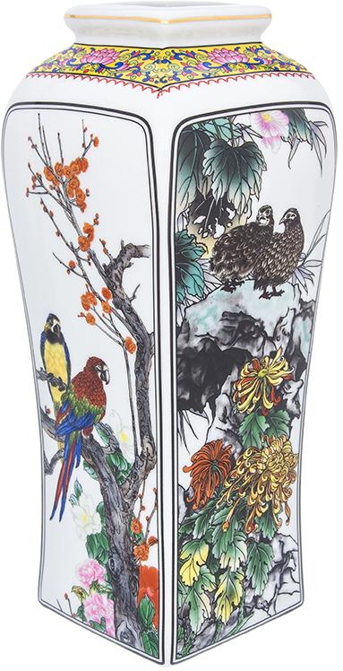 Ваза Elan Gallery Птицы в цветах, цвет: белый, высота 30 см, 3 л. 501928 ваза elan gallery птицы в цветах цвет белый высота 30 см 2 6 л page 3 page href