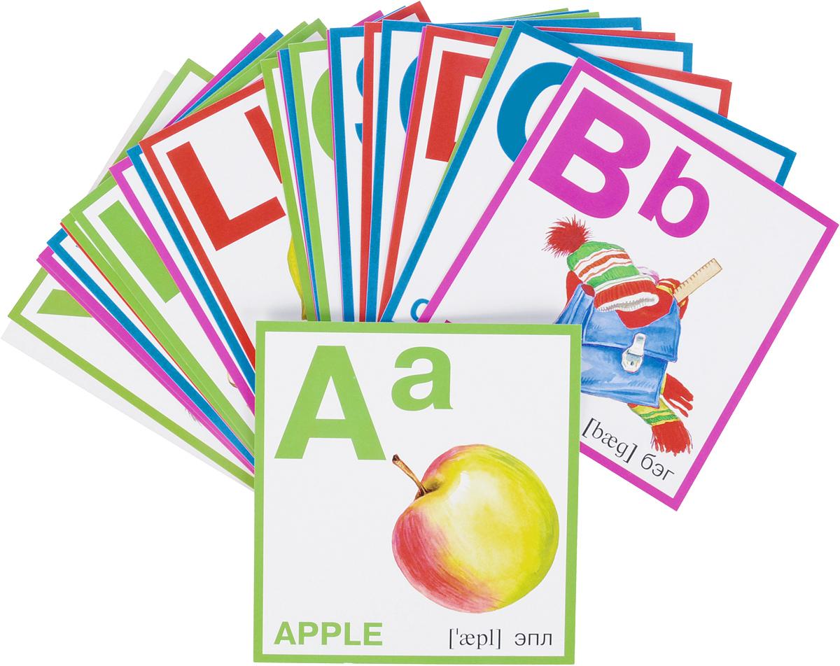 Азбука английская. Набор карточек азбука в картинках набор карточек в целлофане