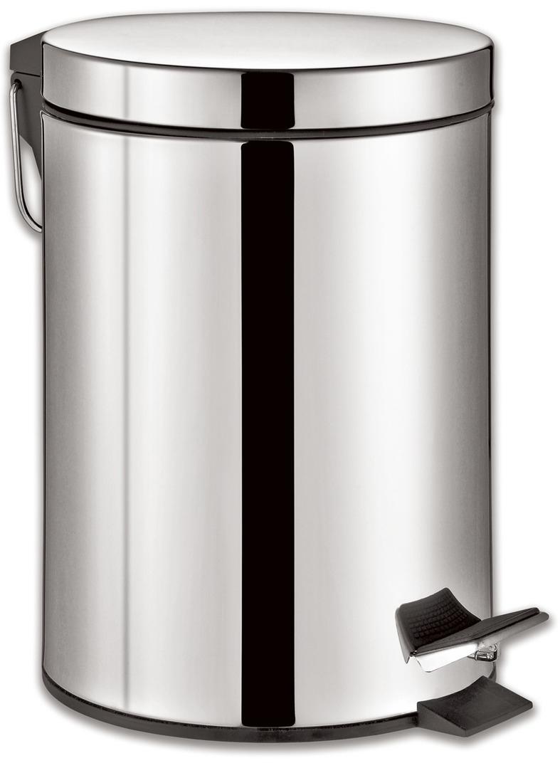 """Ведро-контейнер для мусора Лайма """"Classic"""", с педалью, цвет: серебристый, 5 л. 232260"""