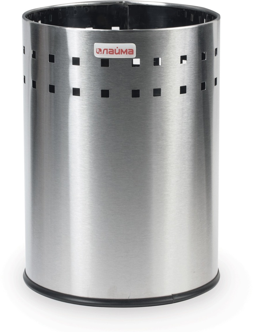 "Корзина для мусора Лайма ""Bionic"", несгораемая, цвет: серебристый, 7 л. 232267"