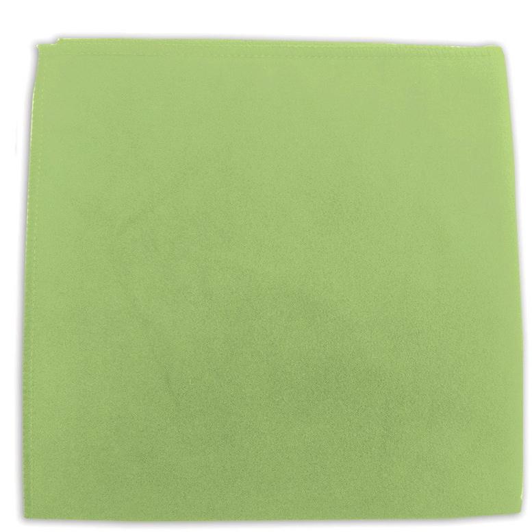 Салфетка для оптики и мебели Лайма Замша, цвет: зеленый, 30 х 30 см. 601249 салфетка для ухода за стеклянными поверхностями smart glass из микрофибры 30 х 30 см