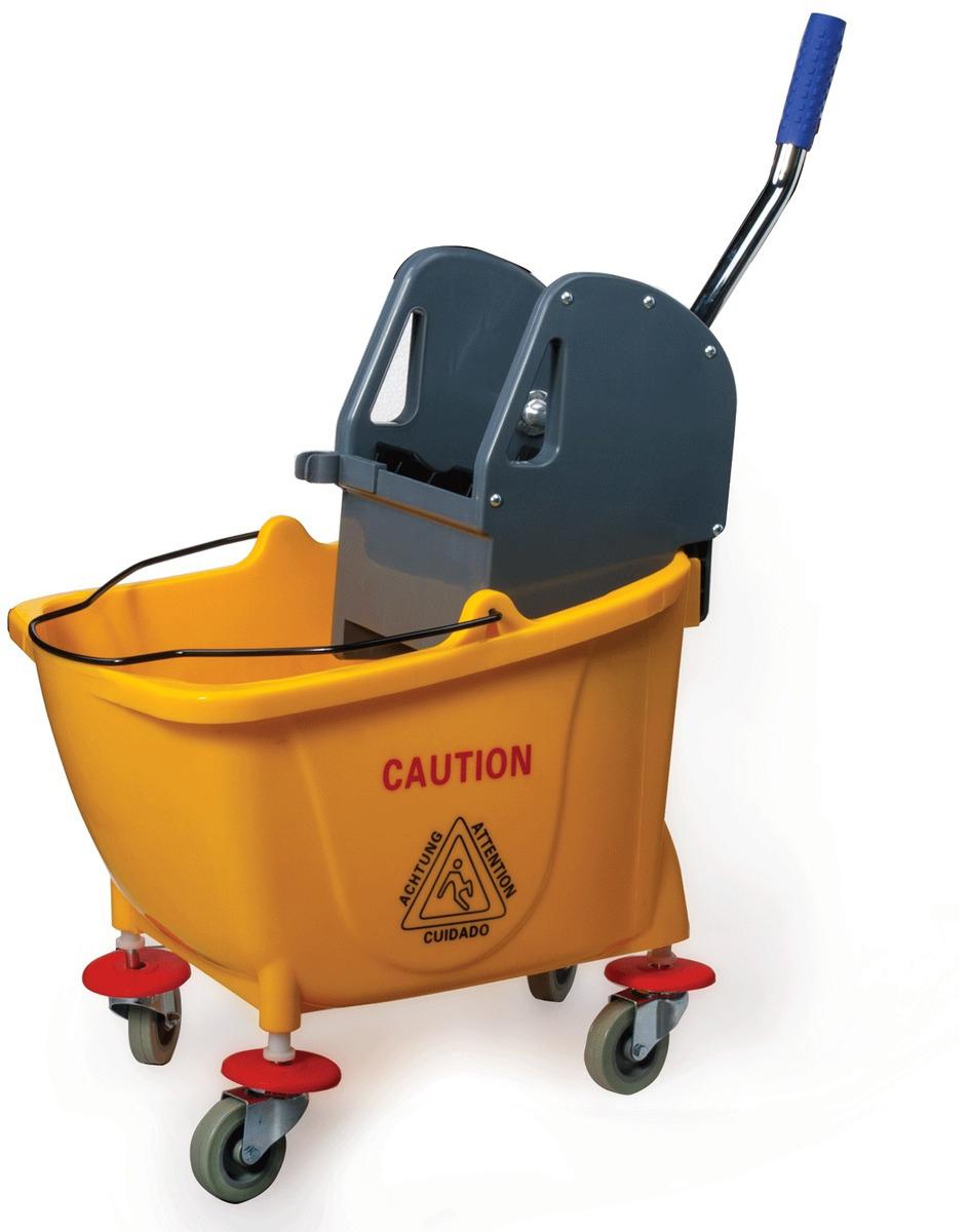 Тележка для уборки Лайма Проф, с механическим отжимом, цвет: желтый. 601496 elc тележка для уборки
