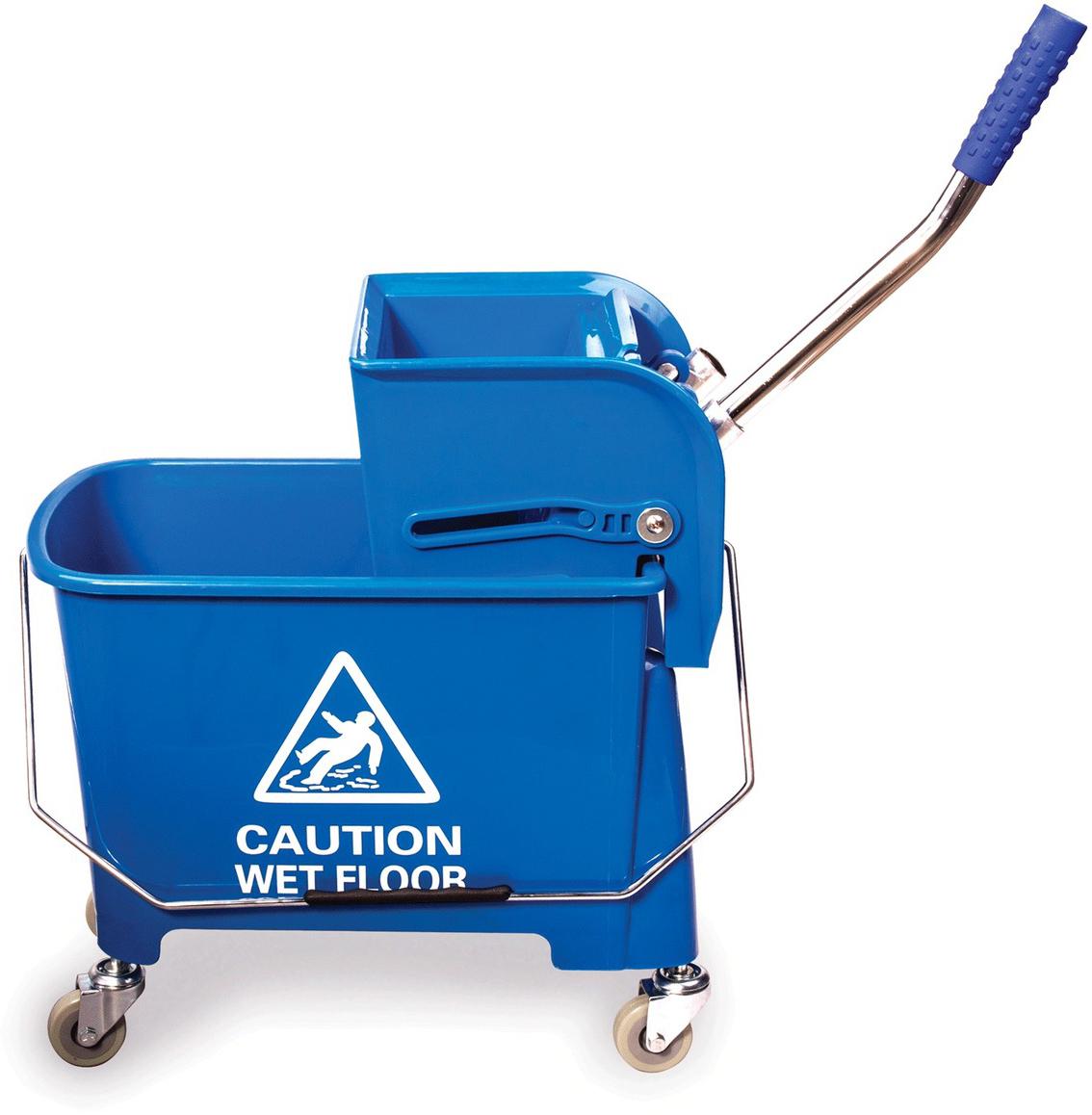 Тележка для уборки Brabix Проф, с механическим отжимом, цвет: синий. 601497 elc тележка для уборки