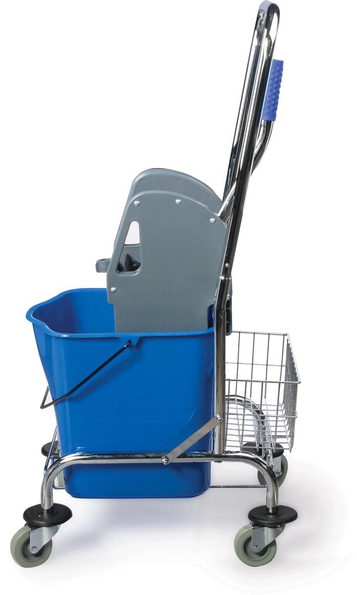 Тележка для уборки Brabix Проф, цвет: синий. 601498. 601498 elc тележка для уборки