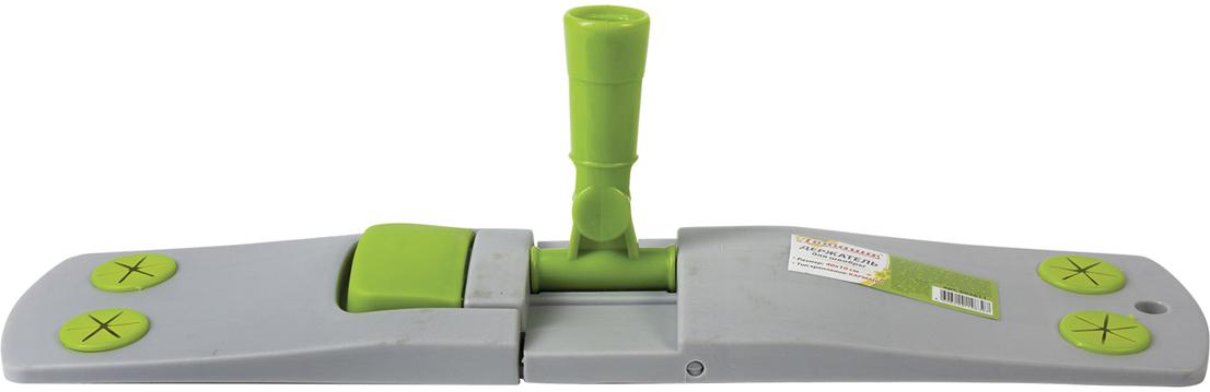 """Держатель для швабры """"Любаша"""", для плоских насадок """"Моп"""" с карманами, цвет: зеленый, 40 см. 603611"""
