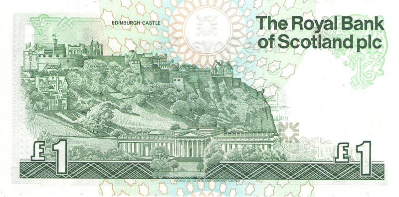 Банкнота номиналом 1 фунт. Шотландия. 1987 год