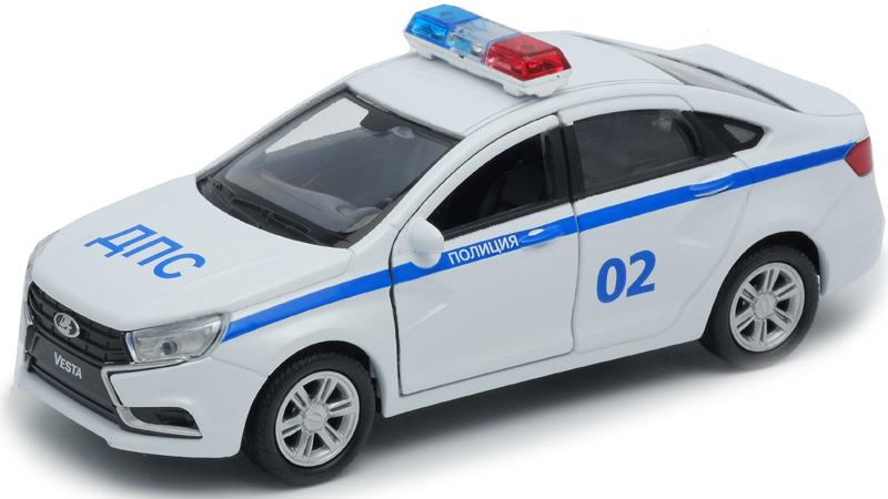 Welly Модель автомобиля LADA Vesta Полиция ДПС машинки и мотоциклы welly lada vesta дпс 1 34 39