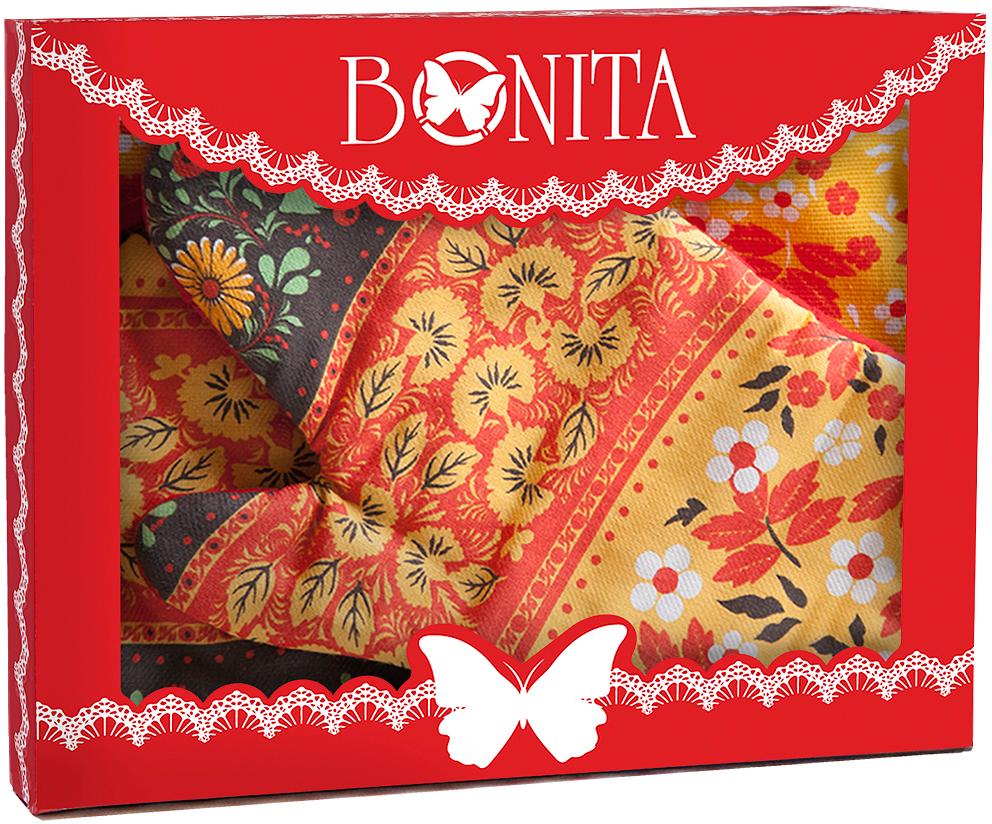 рукавицы прихватки фартуки романтика прихватка рукавичка лимонный сад Подарочный набор для кухни Bonita Славянка, 3 предмета