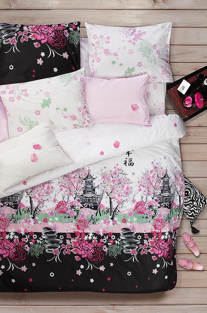 Комплект белья Sova & Javoronok Сакура, 1,5-спальный, наволочки 50x70. 2030816777 комплект белья sova