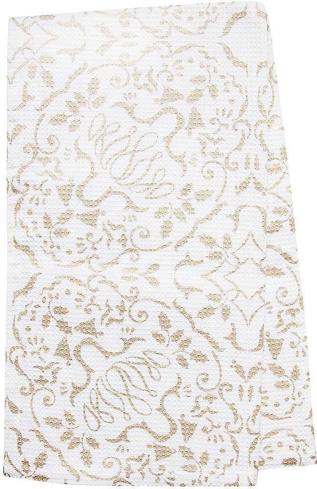 Полотенце кухонное Bonita Шампань, цвет: белый, бежевый, 35 х 65 см полотенце кухонное мультидом русский стиль 42 72 см