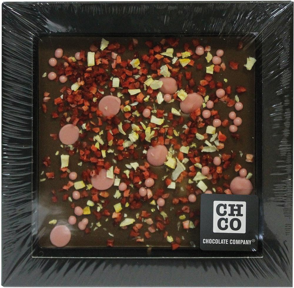 Chco Chocbar XL De Luxe Milk 40% молочный шоколад с клубникой, 300 г chco лев с сердцем молочный детский шоколад 70 г
