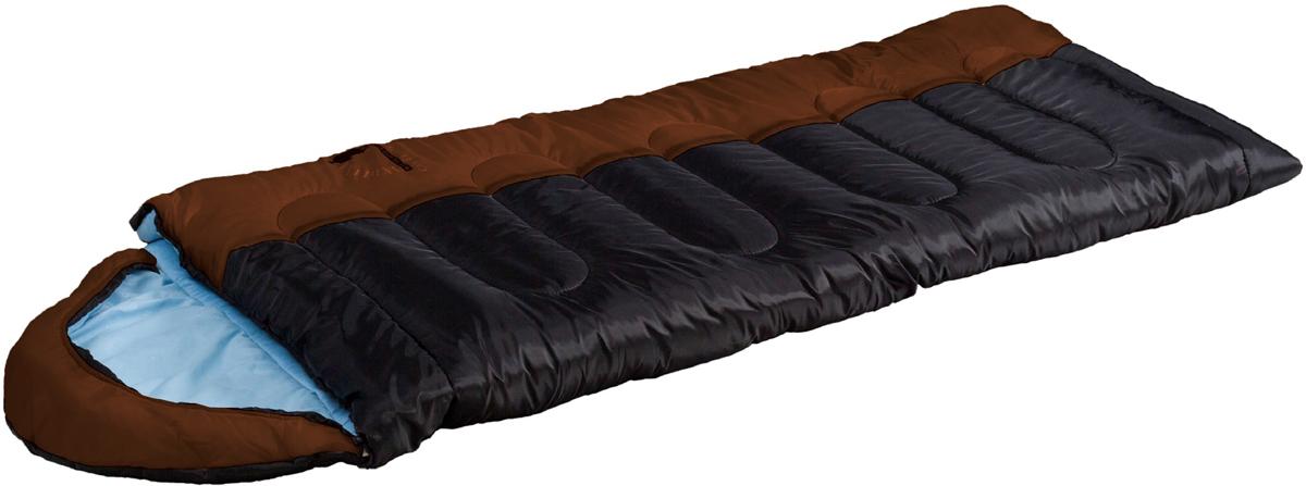 Мешок спальный Indiana Camper Extreme, правосторонняя молния, цвет: коричневый, черный, голубой, 195 х 35 х 90 см спальный мешок indiana maxfort plus правая молния цвет красный черный синий 195 х 35 х 90 см