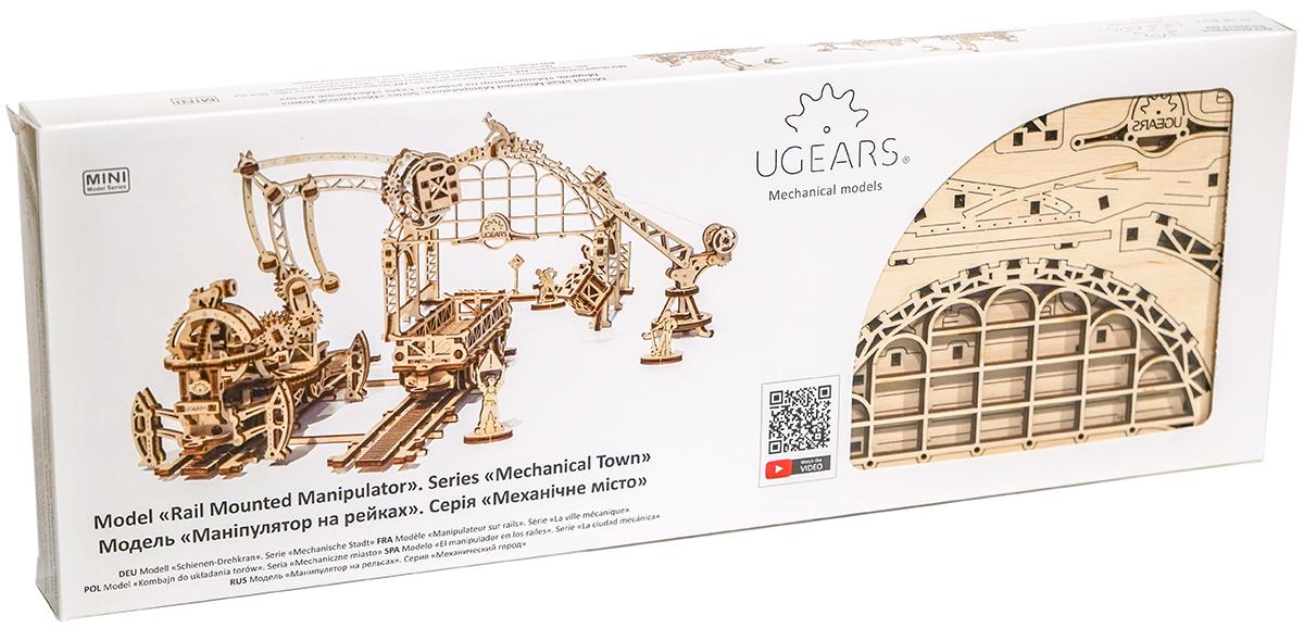Ugears Сборная деревянная модель Манипулятор на рельсах ugears сборная деревянная модель манипулятор на рельсах