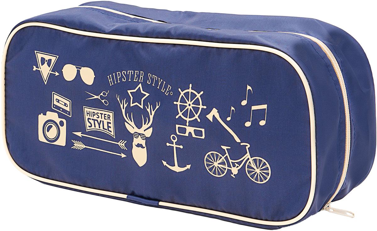 Органайзер для обуви Homsu Hipster Style Premium, цвет: темно-синий, бежевый, 35 х 15 х 11 см органайзер для хранения обуви hipster style 6 секций 66 х 63 х 11 см