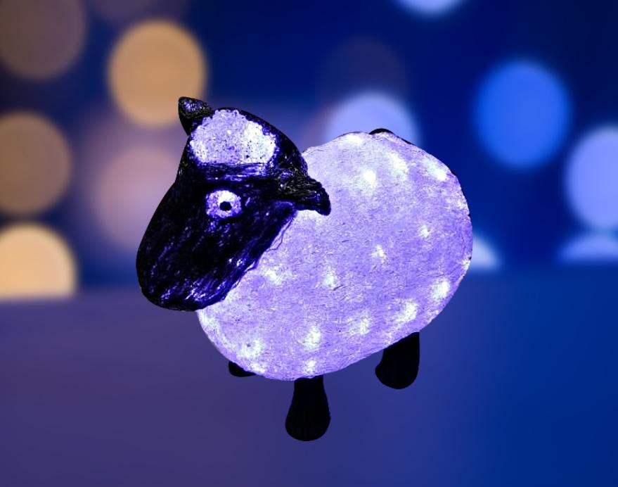 Фигура акриловая светодиодная Neon-Night Овца, 56 LED, 30 см акриловая светодиодная фигура поросенок с крылышками 34х16х24 см 112 светодиодов ip44 понижающий трансформатор в комплекте neon night