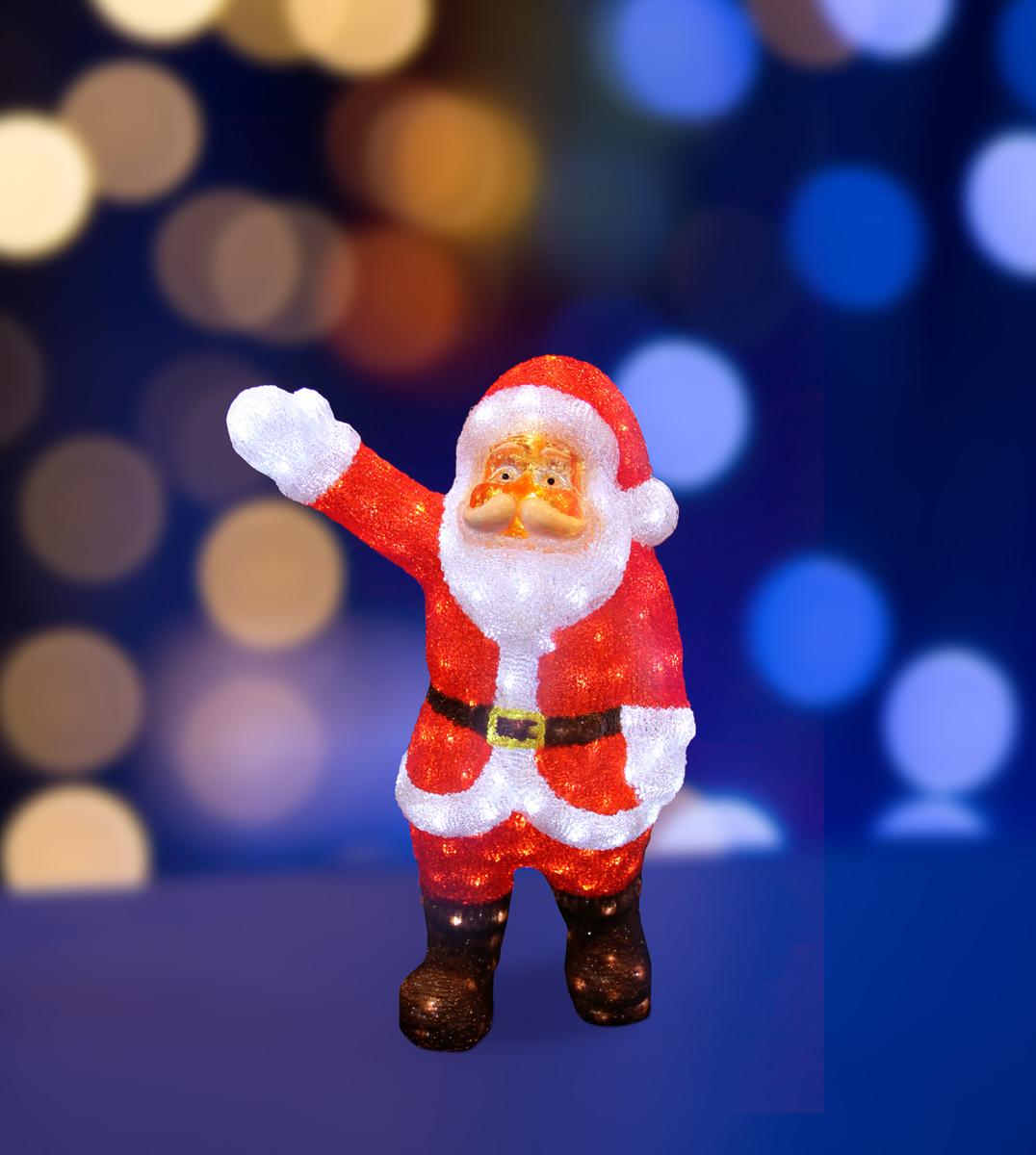 Фигура акриловая светодиодная Neon-Night Санта Клаус приветствует, 200 LED, с понижающим трансформатором, 60 см гирлянда neon night акриловая светодиодная фигура санта клаус приветствует 60см 200 led 513 272