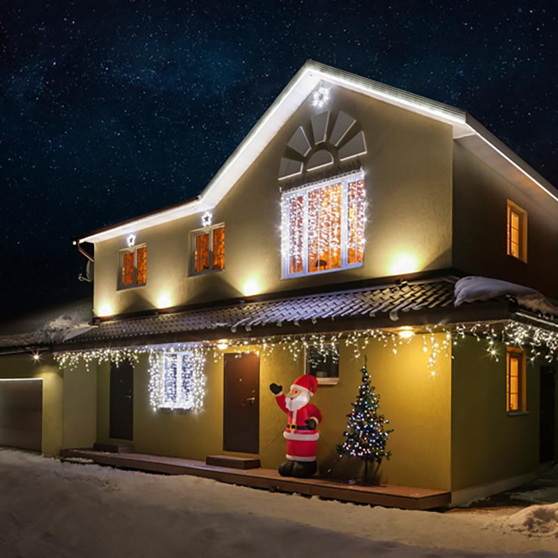 """Комплект Neon-Night """"Luxury"""", для новогоднего украшения дома, цвет гирлянд: белый. 500-095"""