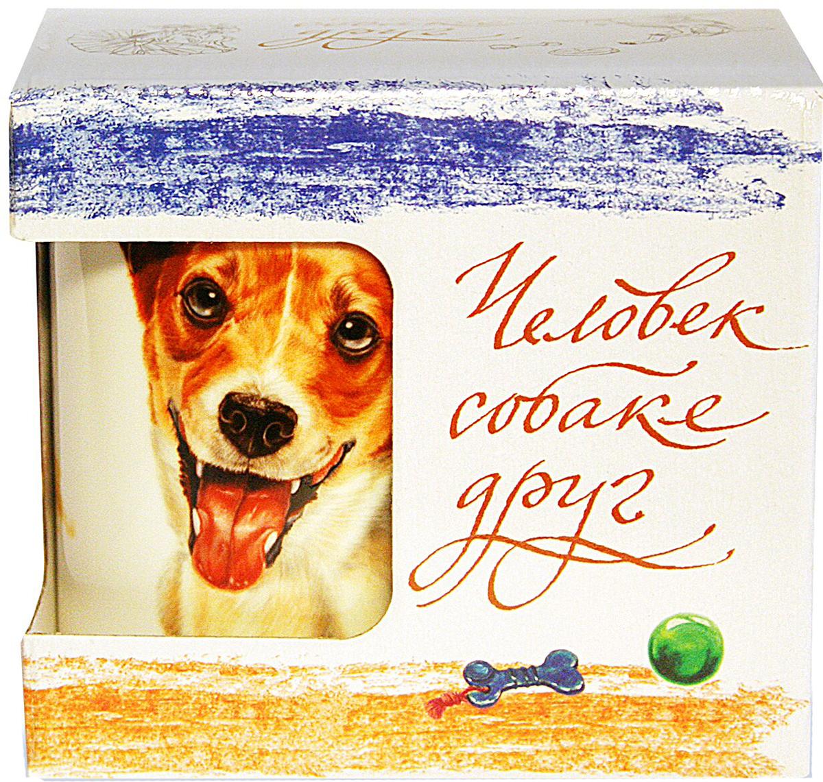 Кружка PrioritY Человек собаке друг Джек рассел 420 мл. в подарочной упаковке намико фукуи человек собаке друг