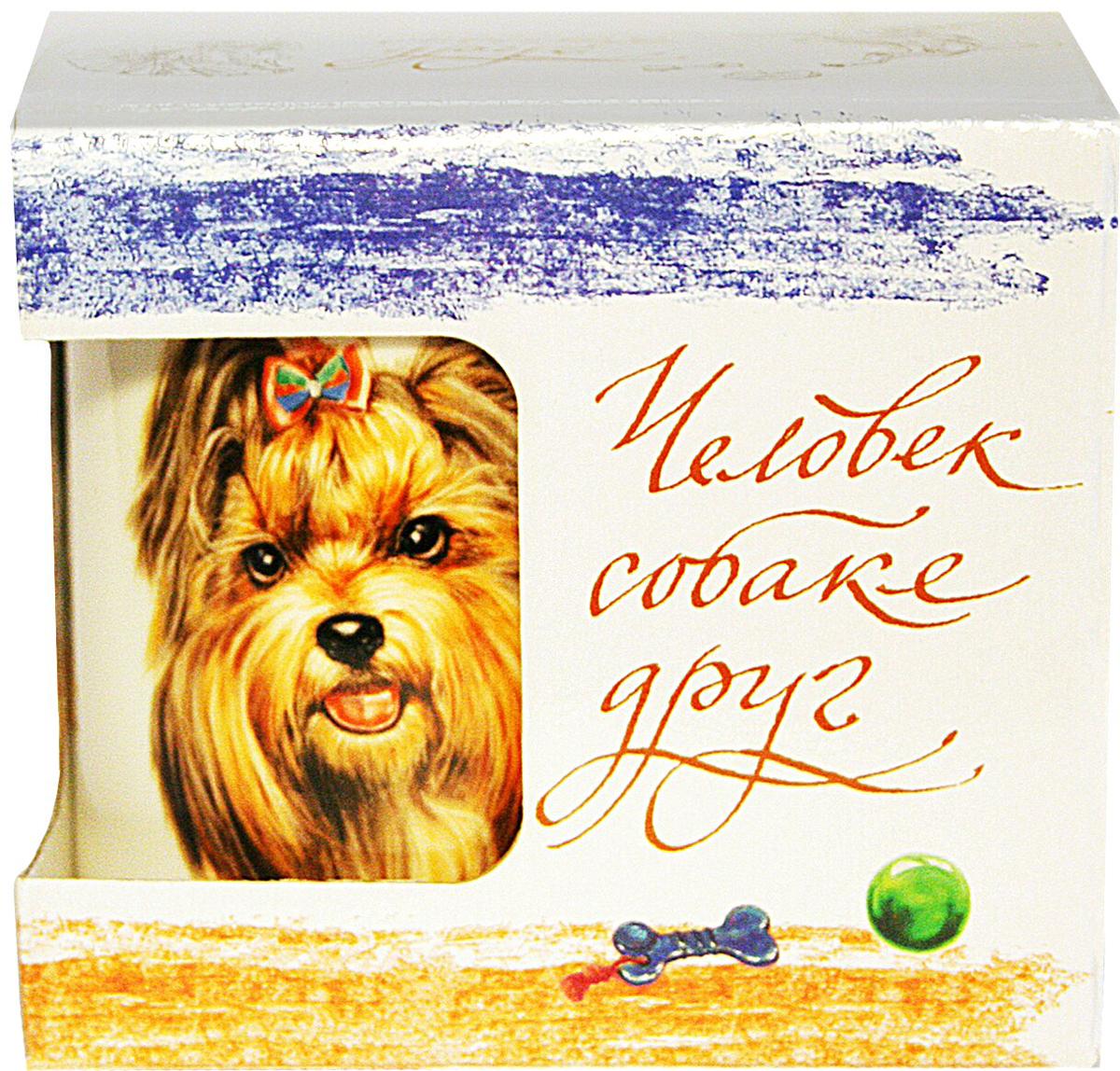 Фото - Кружка PrioritY Человек собаке друг Йоркширский терьер 420 мл. в подарочной упаковке кружка priority такса 420 мл