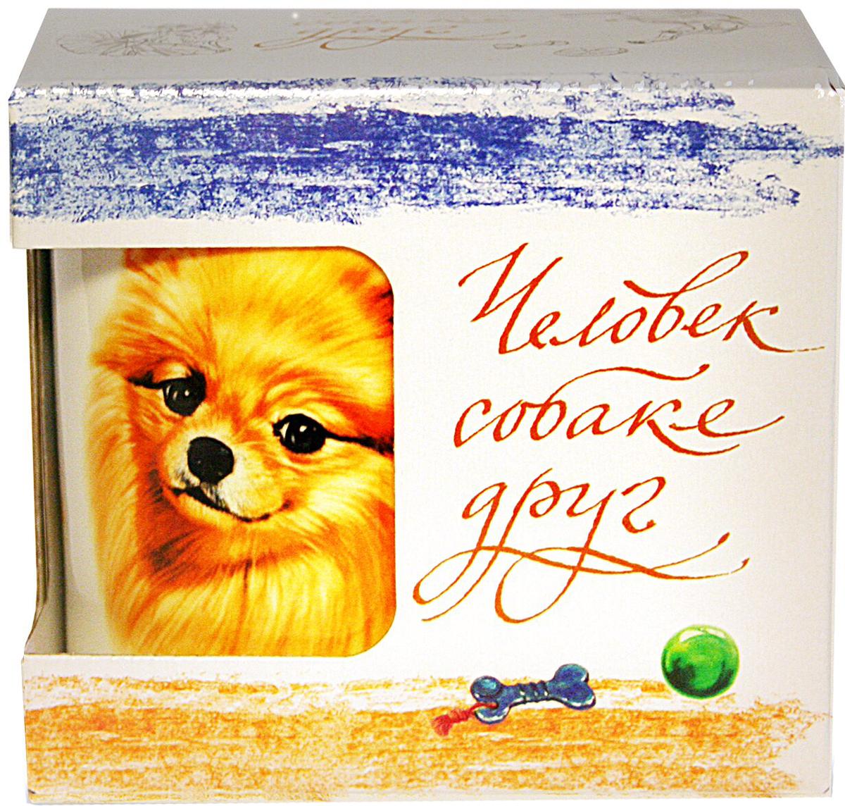 Фото - Кружка PrioritY Человек собаке друг Шпиц 420 мл. в подарочной упаковке кружка priority такса 420 мл