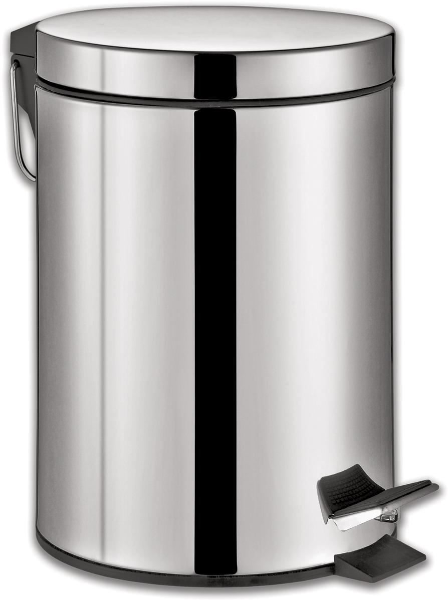 """Ведро-контейнер для мусора Лайма """"Classic"""", с педалью, цвет: серебристый, 20 л. 232262"""
