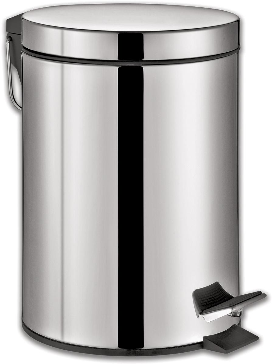 """Ведро-контейнер для мусора Лайма """"Classic"""", с педалью, цвет: серебристый, 30 л. 232263"""