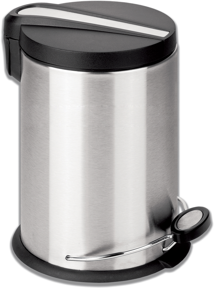 "Ведро-контейнер для мусора Лайма ""Modern"", с педалью, цвет: серебристый, 12 л. 232264"