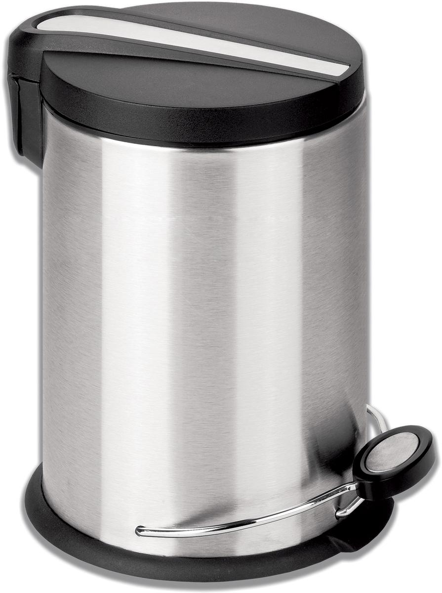 "Ведро-контейнер для мусора Лайма ""Modern"", с педалью, цвет: серебристый, 30 л. 232265"