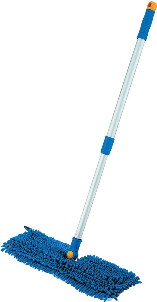 Швабра двусторонняя Лайма, с телескопической ручкой, цвет: синий, 75-130 см швабра aqualine лепестковая с ручкой 130 см