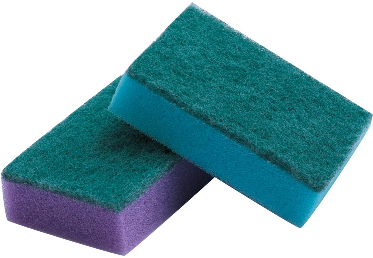 """Набор губок для мытья посуды """"Лайма"""", с чистящим слоем, 2,6 х 7,9 х 5,3 см, 10 шт. 601551"""